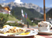 Coffee & ice cream bar with sun terrace in the Alps